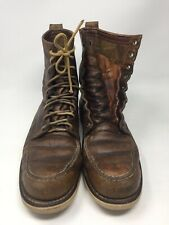 VINTAGE RED WING/IRISH SETTER Classic Moc Toe  Leather Boots 10 B Used Worn