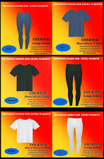 Mens Thermal Top Vest & Long Johns Underwear Short Sleeved Full Set S-M-L-XL-XXL