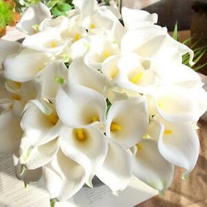 10x Artificial Calla Lily Flowers Single Long Stem Bouquet Real Home Decor