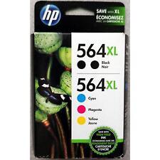 5-PACK HP GENUINE 564XL Black & Color Ink (RETAIL BOX) PHOTOSMART 6510 6515 6520