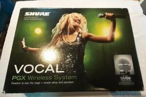 Shure PGX24UK SM58 Wireless System, Cardioid/Dynamic Wireless Mic Vocal System