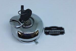 MORRIS OXFORD CHROMED LOCKABLE PETROL CAP & COLLAR WITH 2 KEYS. BRAND NEW