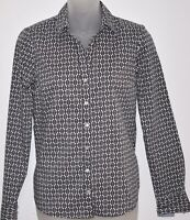 Tommy Hilfiger Women's Long Sleeve Button Up Shirt With TH Pattern, Sz XS.