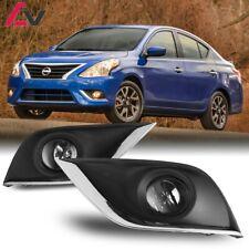 15-19 For Nissan Versa Clear Lens Pair OE Fog Light Lamp+Wiring+Switch Kit DOT