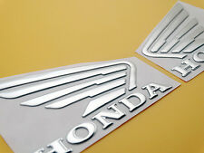Motorcycle 3D Soft Wing Fuel Tank Fairing Badge Emblem Decal Sticker for Honda