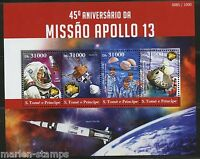 SAO TOME  2015 45th ANNIVERSARY OF APOLLO 13  SHEET MINT NH