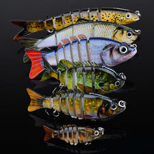 6pcs Lot Mixed Set Fishing Lures 4-6 Sections Swimbait Bait Tackle #6 Black Hook