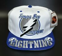 Tampa Bay Lightning NHL Vintage 90s Big Logo Spell Out Snapback Cap Hat - NWT