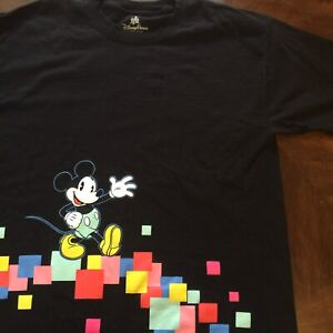 Disney Parks Retro Mickey Mouse Double Sided Block Shirt   XL     Disneyland