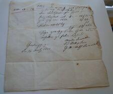 German Handwritten Letter, Contract ?? - Pfullingen Mart 27, 1852