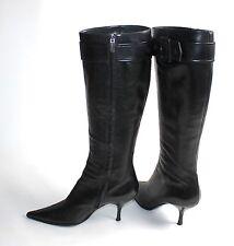 Kniehohe Stiefel mit Echtleder für Hoher Absatz (5-8 cm)