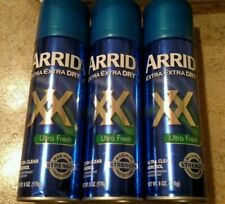 (3) ARRID XX Extra Dry Anti-Perspirant Deodorant Ultra Fresh 6 Oz
