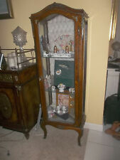 Antique Style French Display Cabinet Vintage