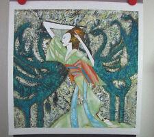 "Zhang Ting Yunnan School Original Chinese Art on Gaoli Paper ""Phoenix"" 1989"