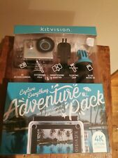 Kitvision 4k go Action Camera with Adventure Pack waterproof pro