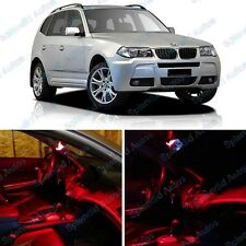 Brilliant Red Interior LED Package For BMW X3 E83 2004-2010 (12 Pieces) #451