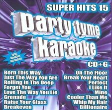 Party Tyme Karaoke: Super Hits, Vol. 15 CD Rolling In The Deep, Perfect...New!