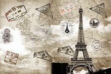 """300 DPI High Definition World Map Style Print Art Frame Paper Poster 11""""x16 A02"""