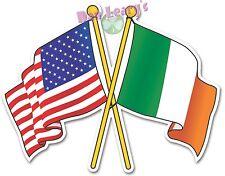 Irish-American Flags Sticker Irish Ireland Auto