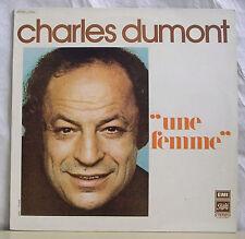 """33 tours Charles DUMONT Disque LP 12"""" UNE FEMME - PATHE EMI 12664 Frais Rèduit"""