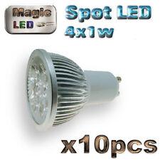 858/10# ampoule à LED 4 x1w   GU10 blanc chaud 10pcs