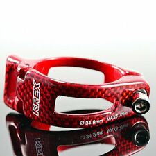 KREX Carbon + Alloy Front Derailleur Forged Clamp , 34.9mm , Red
