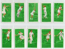 TENNIS'.  FULL SET  ISSUED BY PLAYERS IN 1936  GOOD COND.  ALL STROKES SHOWN