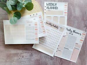 30 x A5 Einlagen / Refill / Planner / Bujo / Einsatzblätter / Weekly / Kalender
