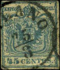 Austria Lombardy-Venetia Scott #6c Type Ii Used Catalogs $75