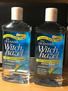 Dickinson's Witch Hazel 100% Natural Astringent 16 oz (Pack of 2)