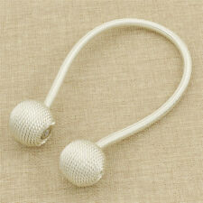 White Ball Magnetic Curtain Buckle Holder Tieback Clips Home Window Accessories