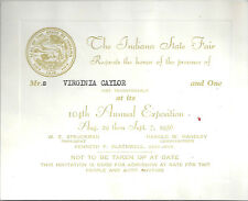 1956 INDIANA STATE FAIR - SPECIAL VIP ADMISSION TICKET