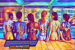 Pink Floyd - The Album Covers Comic Icons Art Print (Available In 4 Formats)