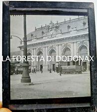 FOTO ANTICA LANTERNA MAGICA MILANO STAZIONE TRAM 1900C