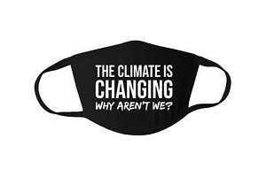 Climate Change Face Mask, No Planet B Cotton Mask, Reusable Face Mask, Cotton