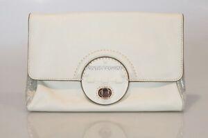 MIMCO PLATEAU CLUTCH LINEN Leather Rose Gold RRP$249 Pouch Envelope Bag