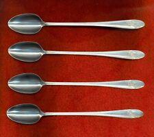 Oneida Tudor Plate QUEEN BESS II 4 Ice Tea Beverage Spoons Excellent Condition