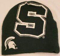 Vintage Michigan State MSU Starter Hat Beanie Winter Hat Embroidered Green