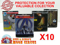 10x 4K UHD STEELBOOK - WITH J-CARD SIZE - CLEAR PROTECTIVE BOX PROTECTOR SLEEVE