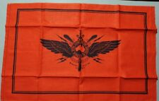 PURE LINEN ROYAL FLYING DOCTORS SERVICE AUST RED & NAVY TEATOWEL NEW UNUSED COND