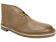 Clarks Men's Bushacre 2 Chukka Boots Tan Brown Leather Nubuck Size 10 M