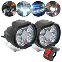 2Pcs Motorcycle Motorbike Headlight Fog Spot Lights Front Head Lamp 6 LED Bulb
