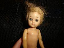 "Vintage Hard Plastic 8"" Ginger/ Ginny Doll As Is Walker"