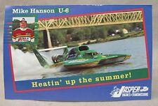 Mike Hanson U-6 MISS JASPER card promo print photo hydroplane boat racing