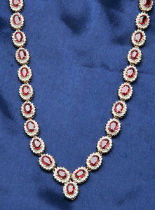Black Friday 10.30cts NATURAL DIAMOND RUBY 14K SOLID YELLOW GOLD NECKLACE