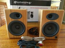 Audioengine A5+ Powered Speakers Carbonized Solid Bamboo USED - Mint Condition