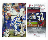 1995 COLTS Don Majkowski signed card Pacific Gridiron #39 AUTO JSA COA Packers
