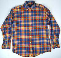 Polo Ralph Lauren Vintage Hot Shadow Plaid Shirt M/L Blake 100% Cotton