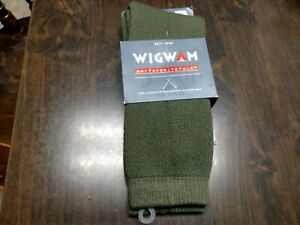 New Wigwam Olive Green 40 Below Socks Size M Unisex Women's 6/10 Men's 5/9.5