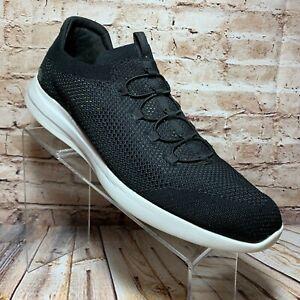 Skechers Men's Air Cooled Memory Foam Slip On Shoes 13 Black & White Mesh Loafer